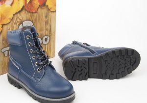 Ботинки Нью-Йорк синий Мех